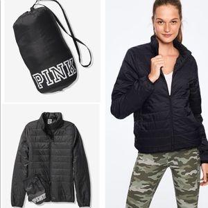 VS PINK PACKABLE PUFFER Jacket black L